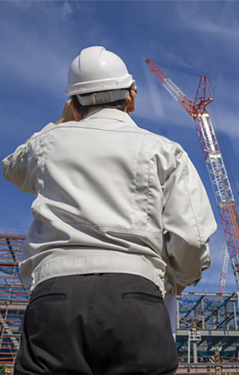 Customers staying at work, such as those involved in construction work